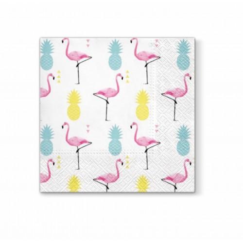 """ROXAN popierinės servetėlės """"Pineapple and Flamingo"""""""