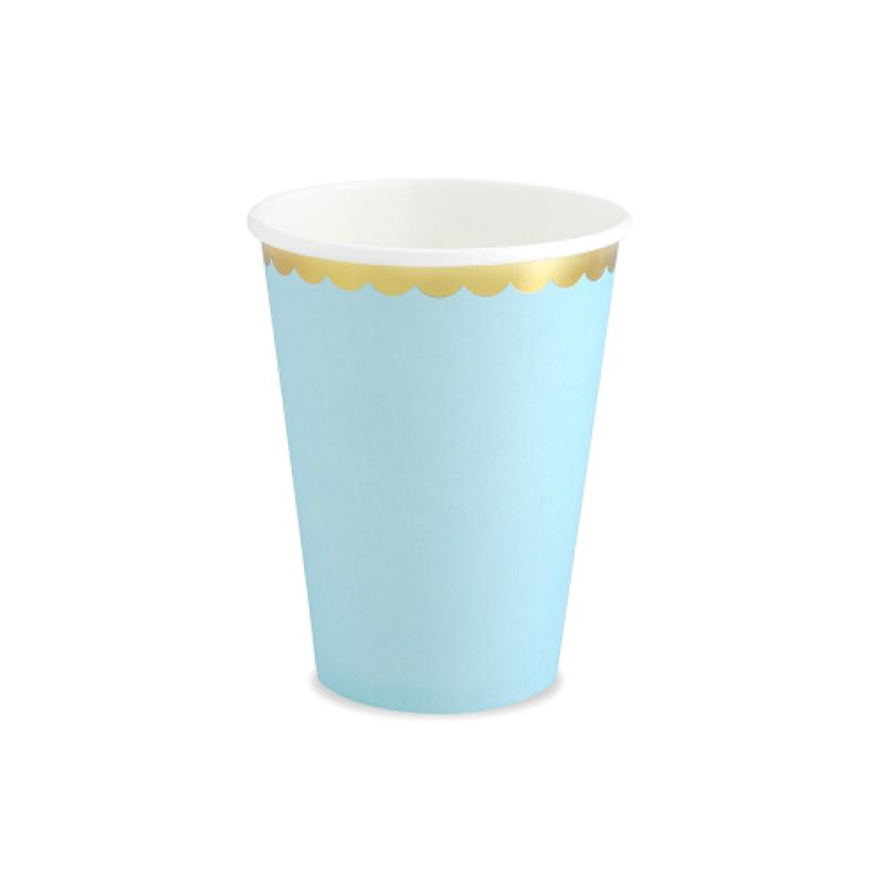 PARTYDECO popieriniai puodeliai, žydri