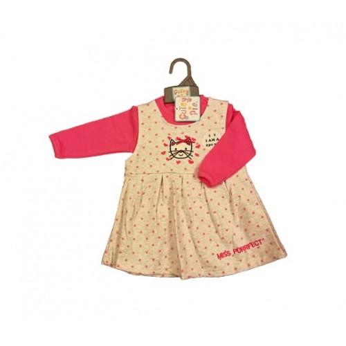 """JUST TOO CUTE 6-24 mėn. dviejų dalių rinkinys """"Kitty"""" (marškinėliai ir suknelė)"""