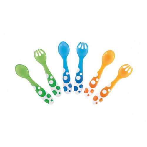 MUNCHKIN 12+ mėn. plastikiniai stalo įrankiai 1 vnt.