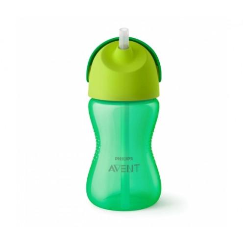 AVENT 12+ mėn. puodelis su šiaudeliu 300 ml. (žalias)