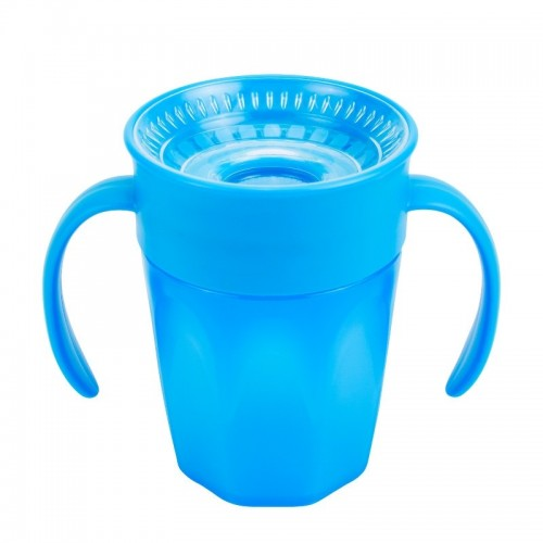 "DR. BROWN'S 200 ml gertuvė ""CHEERS 360"", 6+ mėn., mėlyna"