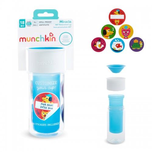 "MUNCHKIN gertuvė-puodelis ""My Miracle 360"", 18+ mėn. (mėlyna)"