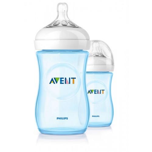 "AVENT 260 ml. ""Natural"" buteliukas 1 vnt. ""Blue"""
