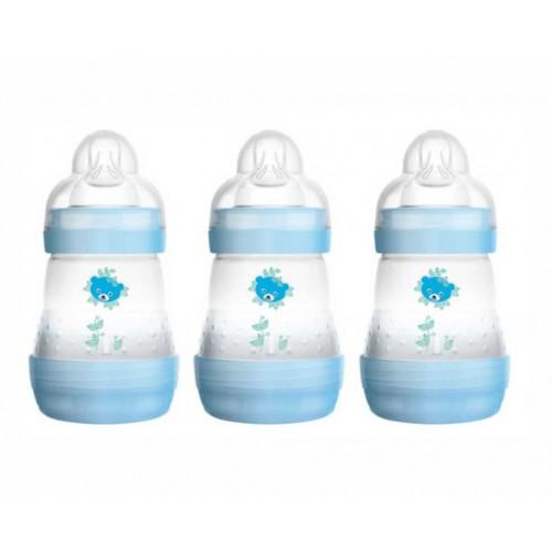 """MAM 160 ml """"Anti-Colic"""" buteliukas 1 vnt. (mėlynas)"""