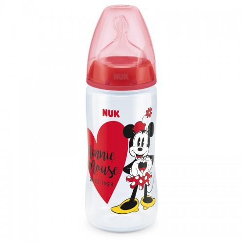 """NUK 300 ml buteliukas silikoniniu žinduku """"Minnie"""""""
