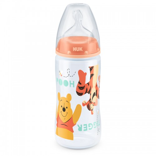 """NUK 300 ml buteliukas silikoniniu žinduku """"Winnie the Pooh"""""""