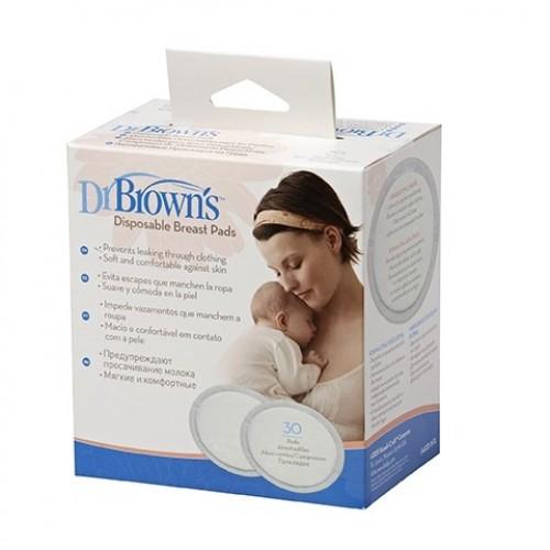 DR.BROWN'S vienkartiniai įdėklai į liemenėlę, 30 vnt.