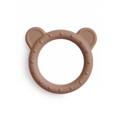 """MUSHIE silikoninis kramtukas """"Bear"""" (Natural)"""
