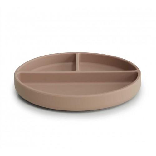 """MUSHIE silikoninė lėkštė limpančiu dugnu """"Natural"""""""