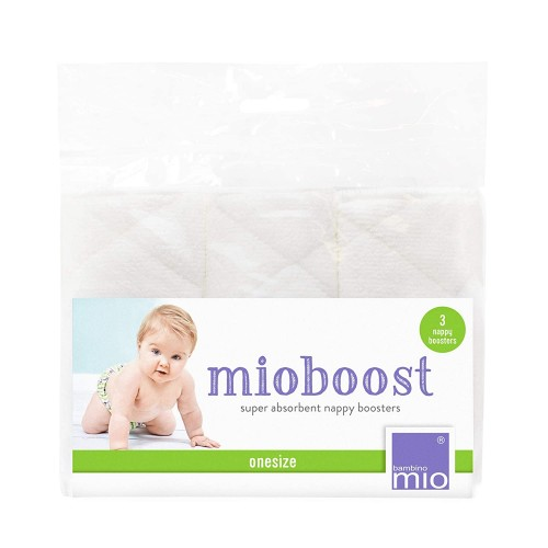 """BAMBINO MIO daugkartiniai sauskelnių įdėklai MIOBOOST """"White"""", 3 vnt."""