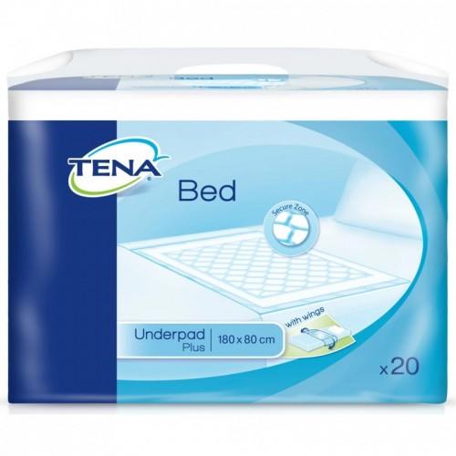 """TENA Plus Wings vienkartiniai paklotai """"Bed Secure Zone"""" 180x80 cm (90x80 cm) 20 vnt."""