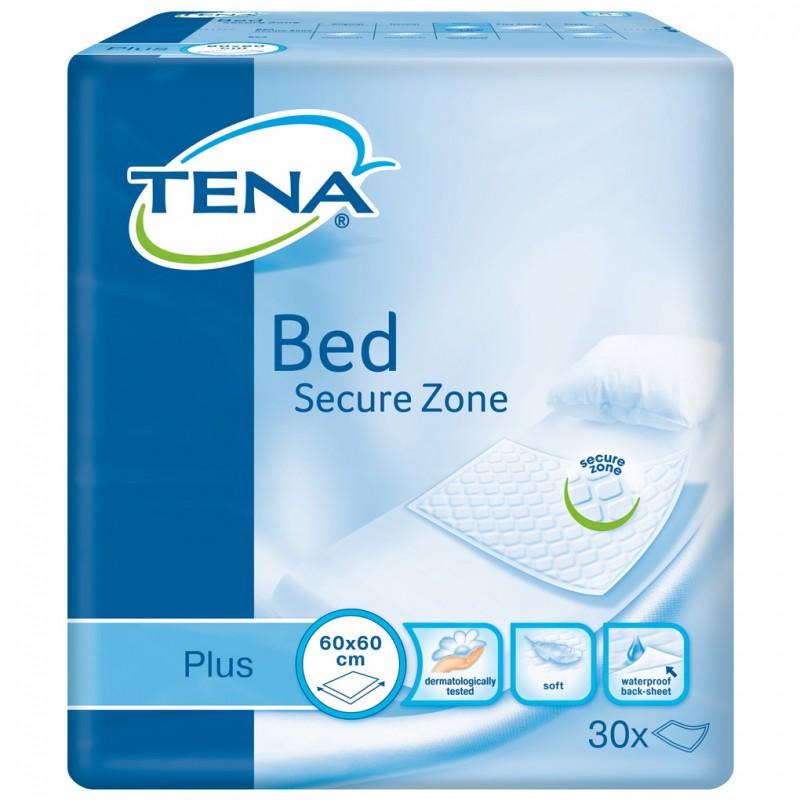 """TENA Plus vienkartiniai paklotai """"Bed Secure Zone"""" 60x60 cm. 30 vnt."""