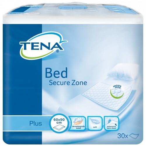 """TENA Plus vienkartiniai paklotai """"Bed Secure Zone"""" 60x90 cm. 30 vnt."""