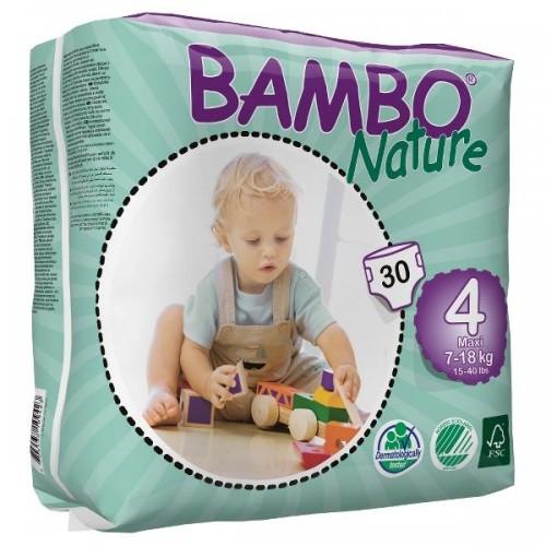 BAMBO sauskelnės Nature Maxi 7-18kg 30 vnt.