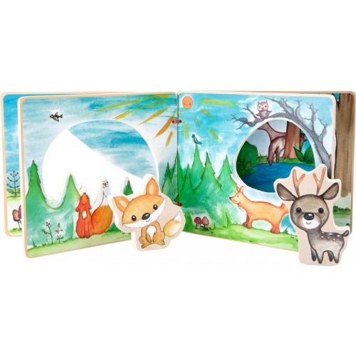 "SMALL FOOT interaktyvi medinė knygelė ""Forest Landscape"""