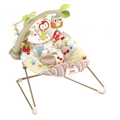 "FISHER PRICE ""Woodsie Bouncer"" vibrokėdutė"