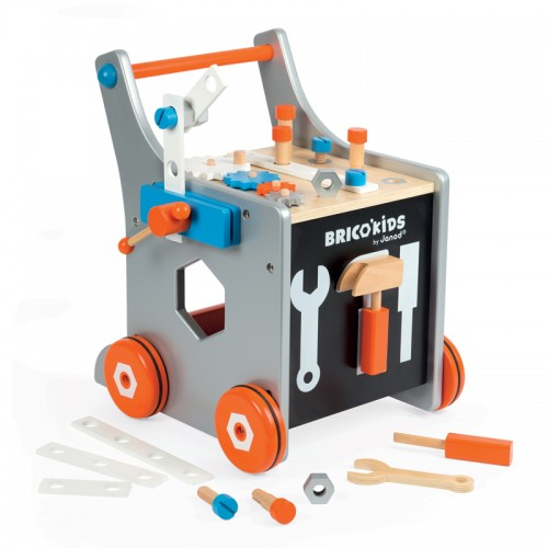 """JANOD medinis magnetinis stumdukas-veiklos centras """"Brico Kids DIY Trolley"""""""