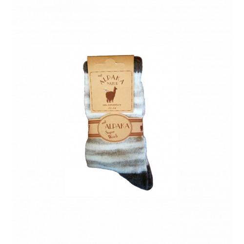 WOWERAT kojinės su alpakos vilna (rausva/balta), 1 pora