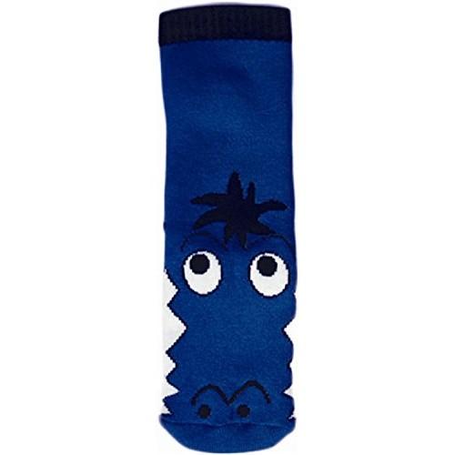"""WOWERAT kojinės-tapukai su guminiu padu """"Crocodile"""" (mėlynos)"""