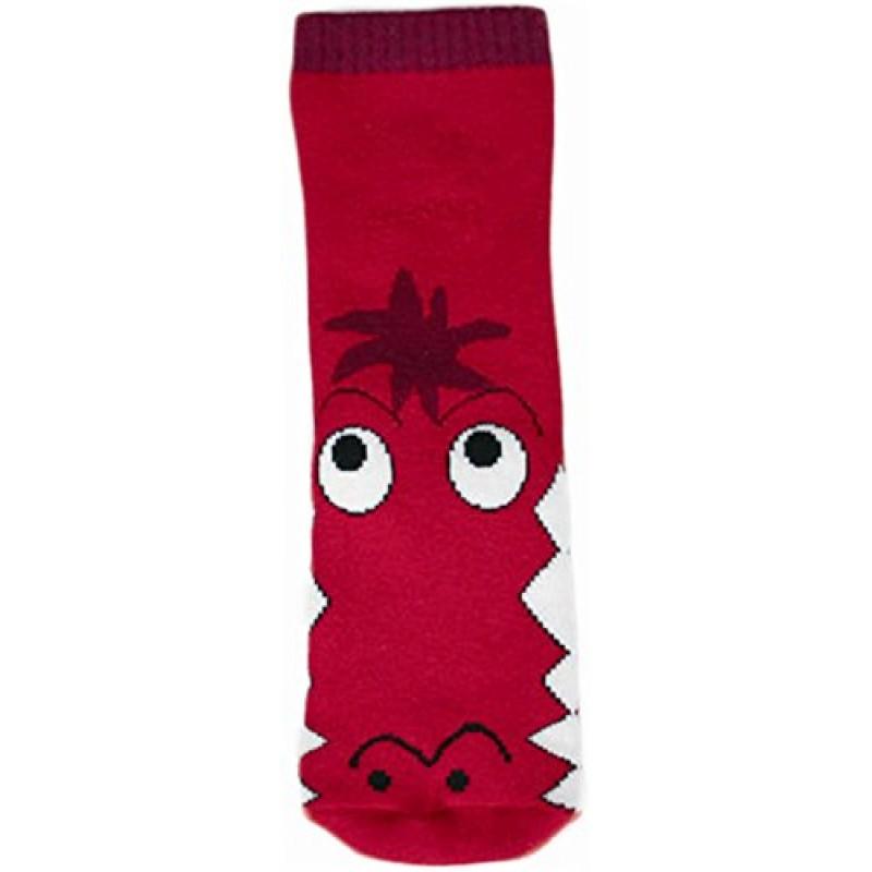 """WOWERAT kojinės-tapukai su guminiu padu """"Crocodile"""" (raudonos)"""