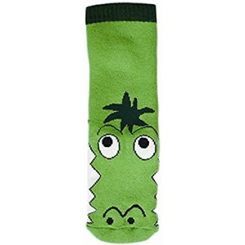 """WOWERAT kojinės-tapukai su guminiu padu """"Crocodile"""" (žalios)"""