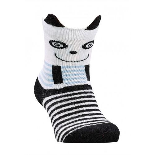 """WOWERAT plonos dryžuotos kojinės """"3D"""" (balta/juoda)"""