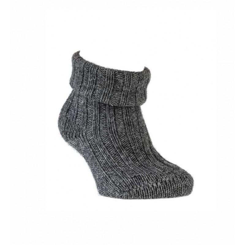 """WOWERAT kojinės su vilna """"""""GOTS-Organic"""" (tamsiai pilkos)"""