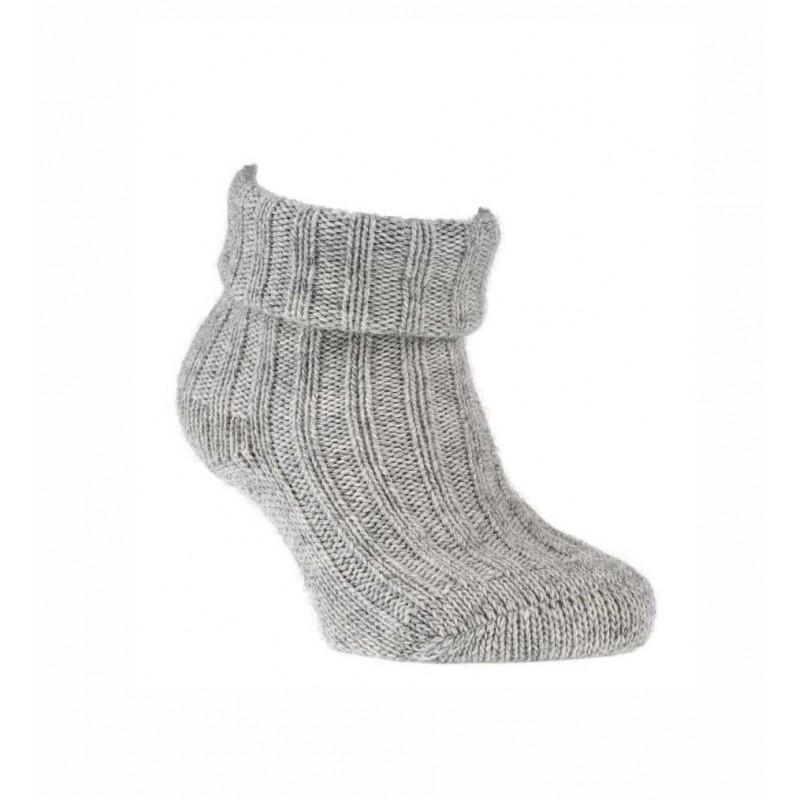 """WOWERAT kojinės su vilna """"""""GOTS-Organic"""" (šviesiai pilkos)"""