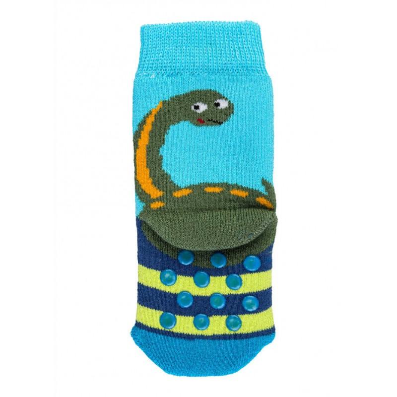 """WOWERAT storos kilpinės neslystančios kojinės """"Dinozauriukas"""""""