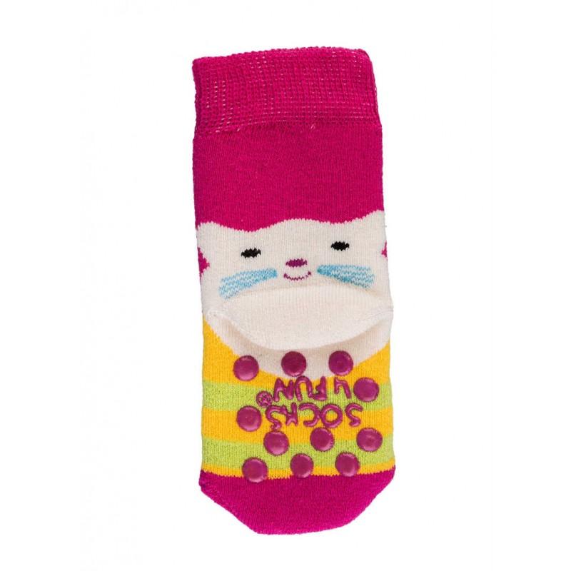 """WOWERAT storos kilpinės neslystančios kojinės """"Katinėlis"""""""