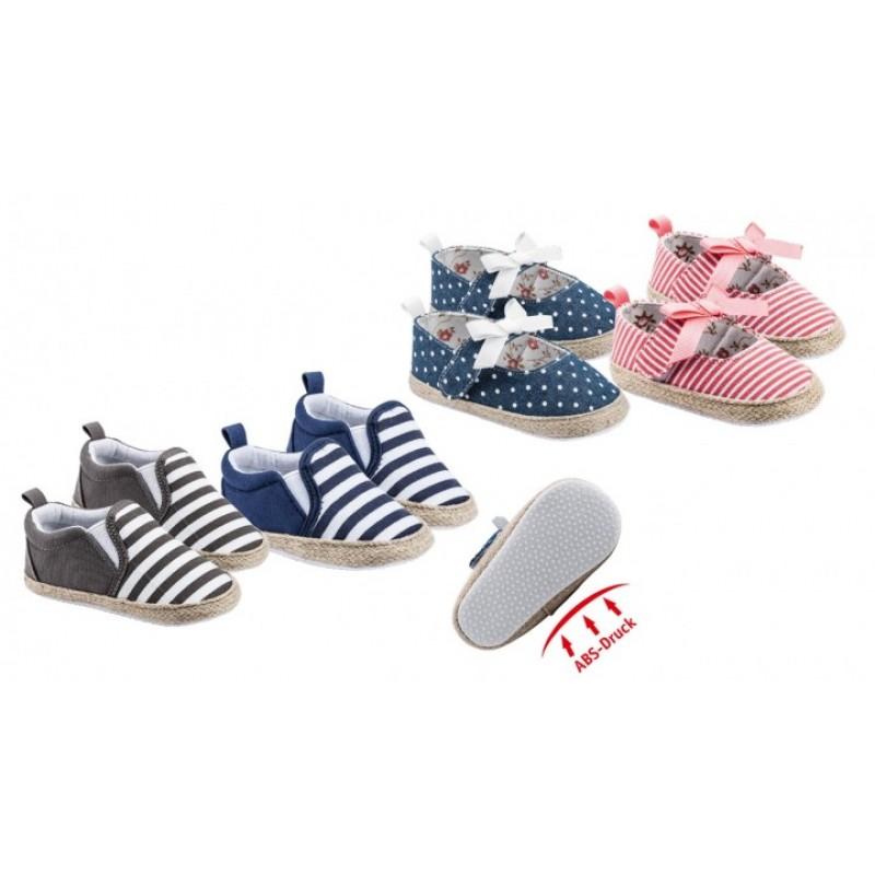 WOWERAT medvilniniai kūdikių bateliai (dryžuoti mėlyni)