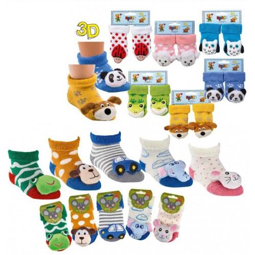 """WOWERAT lavinančios kūdikių kojinytės su žaisliukais """"Baby-Rattle"""""""