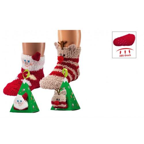 """WOWERAT šiltos 3D neslystančios kojinės """"Christmas"""", 1 pora"""