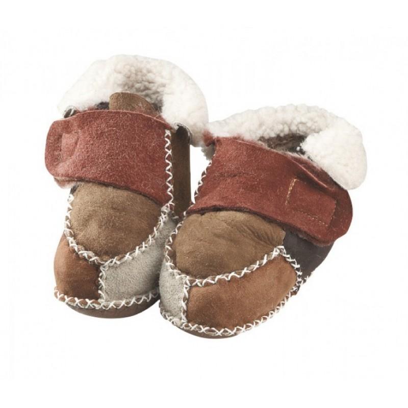 WOWERAT kūdikių batukai su avies vilna (margi)