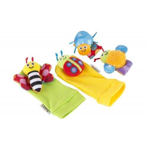 LAMAZE kojinytės ir riešinės su žaisliukais