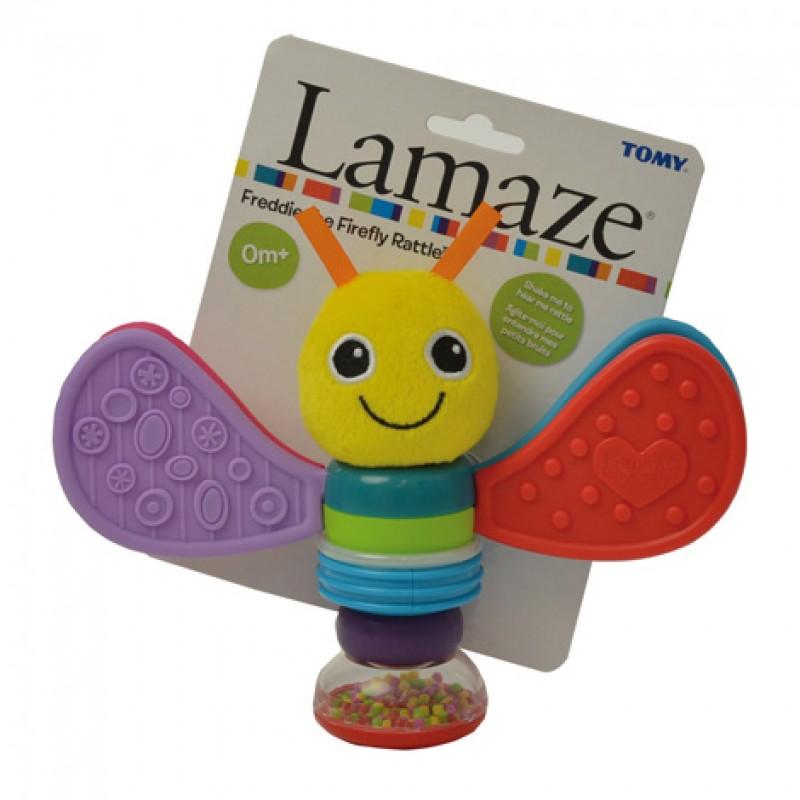 """LAMAZE barškutis-kramtukas drugelis """"Freddie"""""""