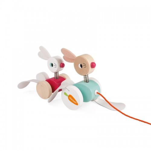 """JANOD traukiamas žaislas """"Rabbits"""""""