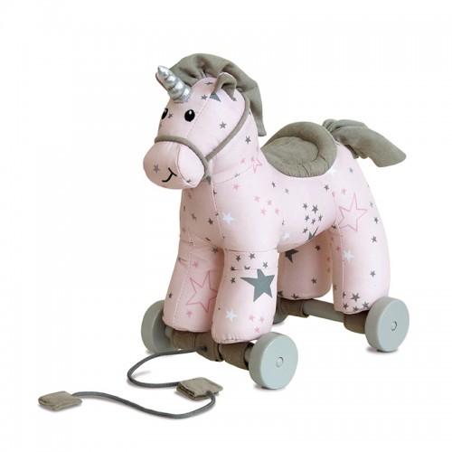 """LITTLE BIRD TOLD ME traukiamas žaislas """"Celeste Unicorn"""""""