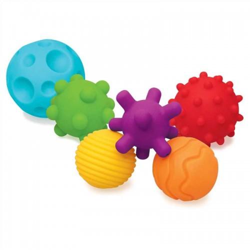 INFANTINO kamuoliukai sensoriniam vystymui, 6 vnt.