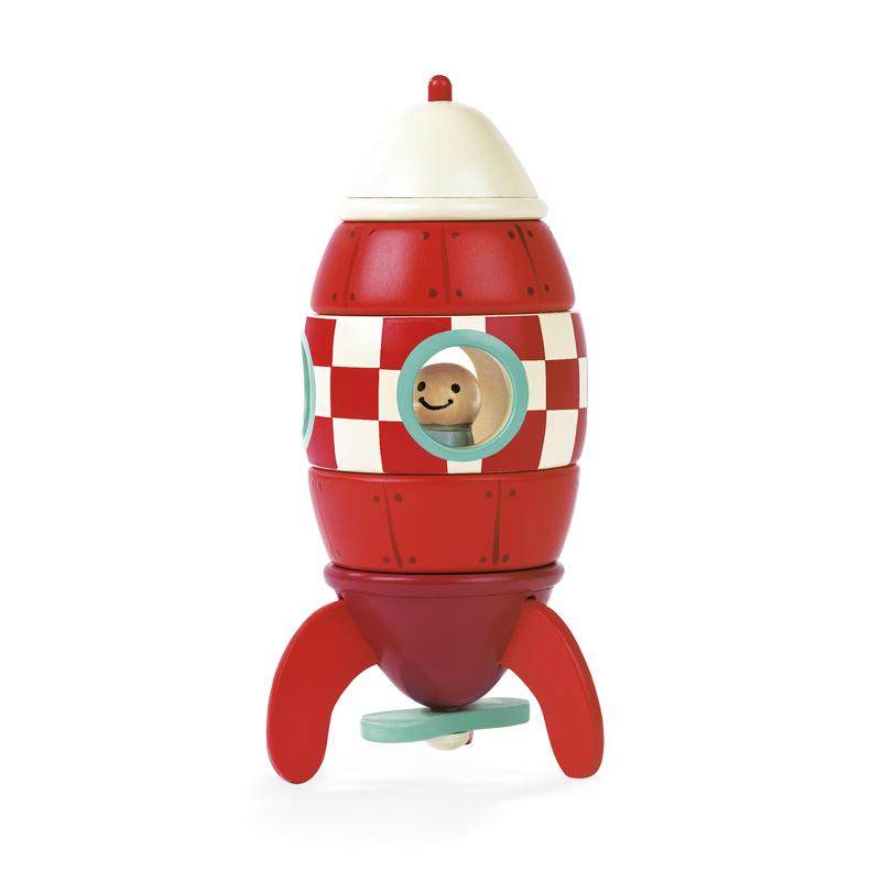 JANOD medinė magnetinė raketa