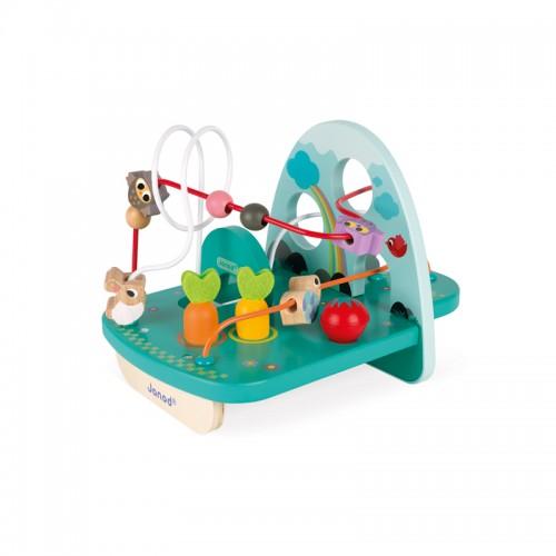 """JANOD medinis ergoterapinis žaislas su kilpomis """"Rabbit & Co"""""""