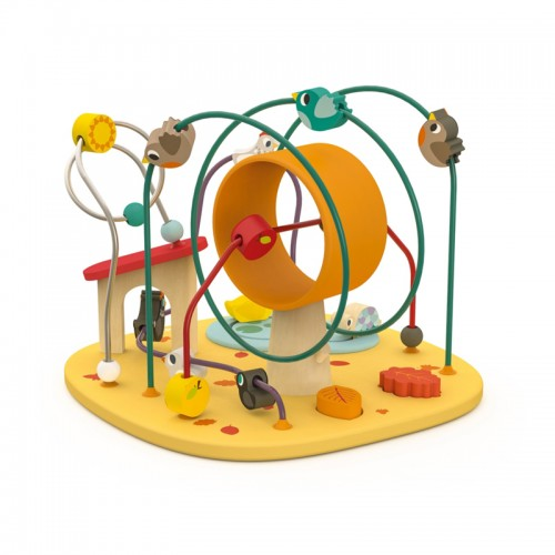 """JANOD medinis ergoterapinis žaislas su kilpomis """"Hen&Co"""""""