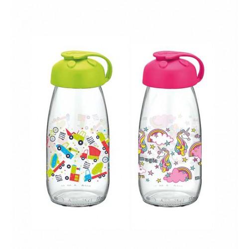 """RENGA stiklinis buteliukas pienui su dangteliu """"MILKY"""", 250 ml."""