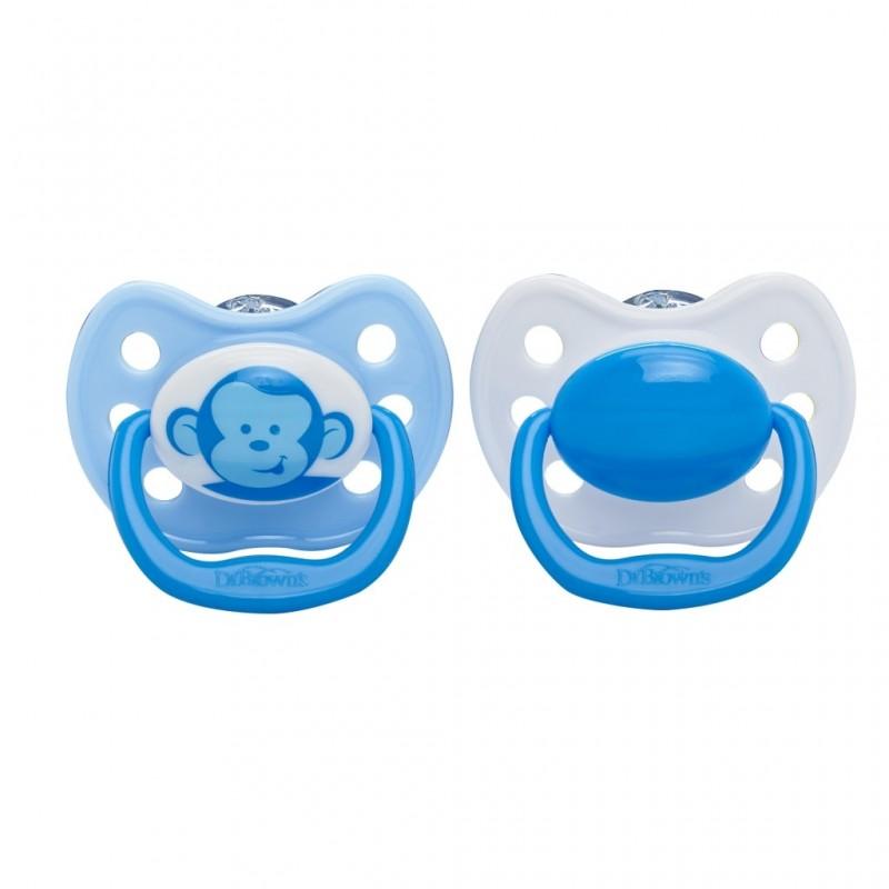 DR. BROWN'S 12+ mėn. ortodontinis čiulptukas (mėlynas) 1 vnt.