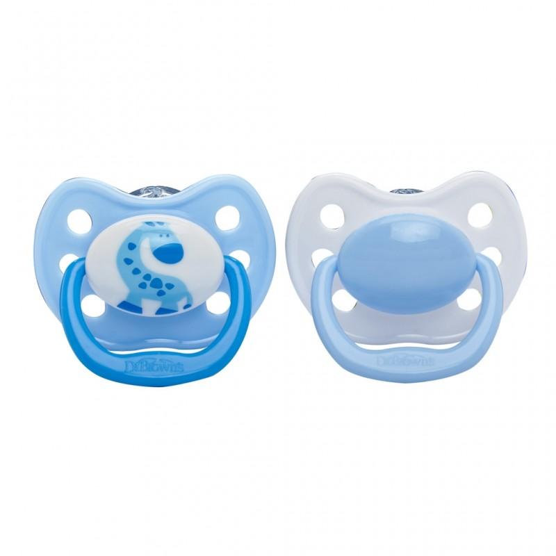 DR. BROWN'S 6-12 mėn. ortodontinis čiulptukas (mėlynas) 1 vnt.