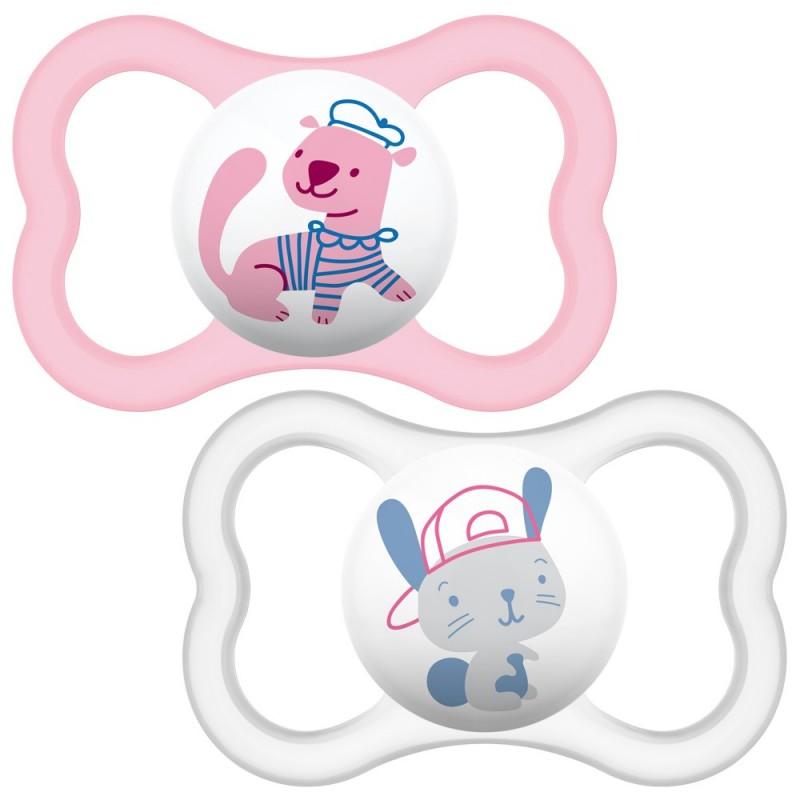 "MAM 6+ mėn. silikoninis ""Air Pink"" čiulptukas"