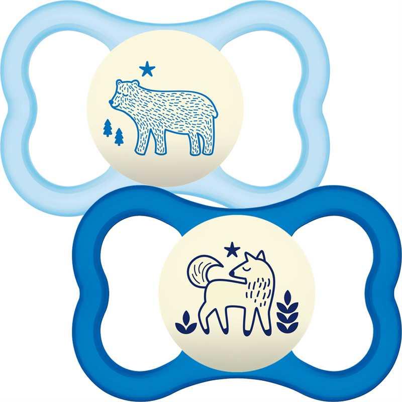 "MAM 12+ mėn. lateksinis čiulptukas ""Air"", 1 vnt. (mėlynas)"