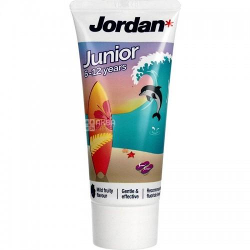 JORDAN 6-12 metų dantų pasta vaikams 50 ml.