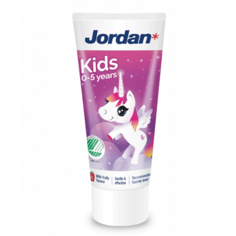 JORDAN 0 - 5 metų dantų pasta vaikams 50 ml.
